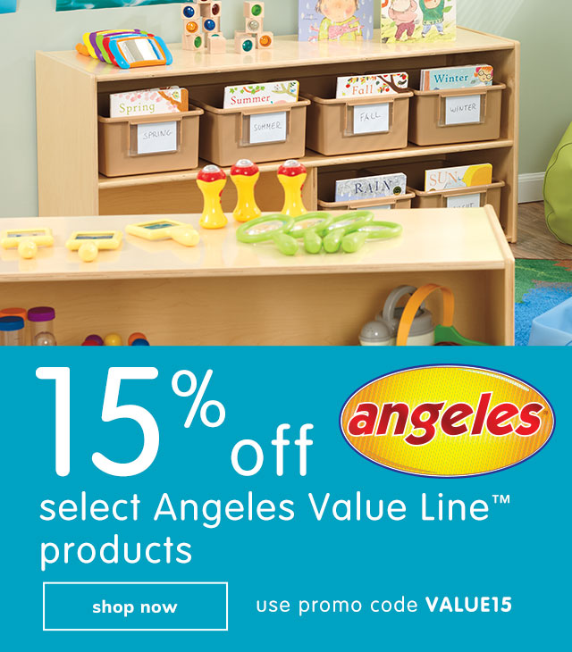 save 15% off select Angeles™ products
